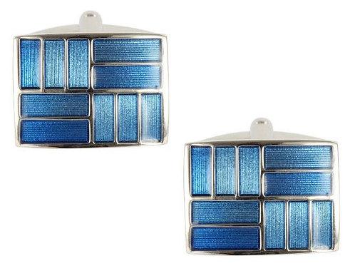 Blue Rectangular Cufflinks