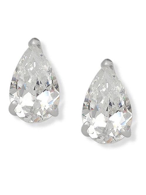 Sterling Silver Pear Shape Earrings