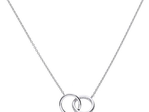 Dazzling Interlocking Rings Necklace