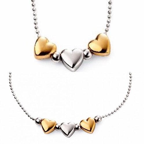 Triple Heart Necklace & Bracelet
