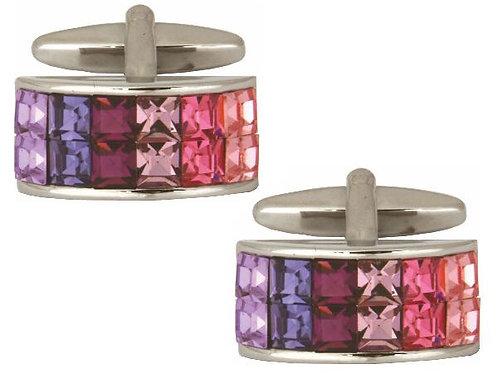Pink/Purple Rectangular Cufflinks