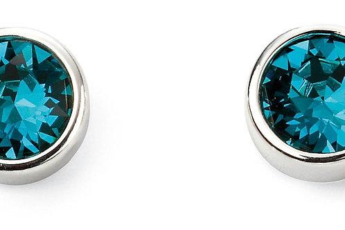 Sterling Silver December birthstone Swarovski crystal studs