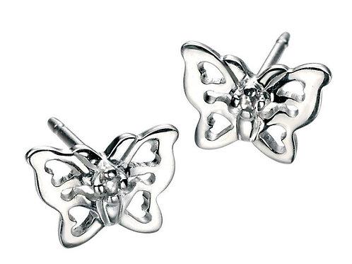 D For Diamond Filigree Butterfly Earrings