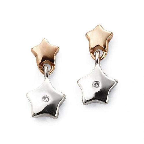 Two Tone Star Earrings