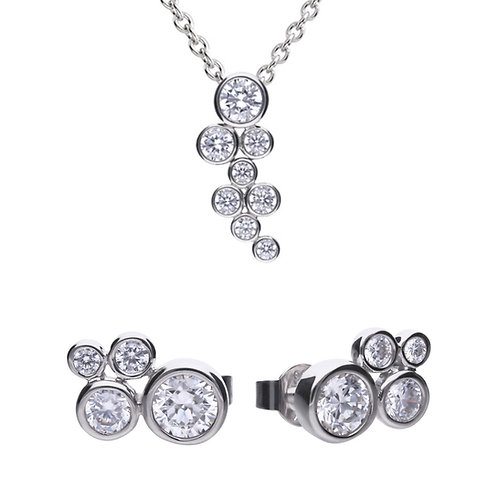 Dazzling Bubble Necklace and Earrings Set