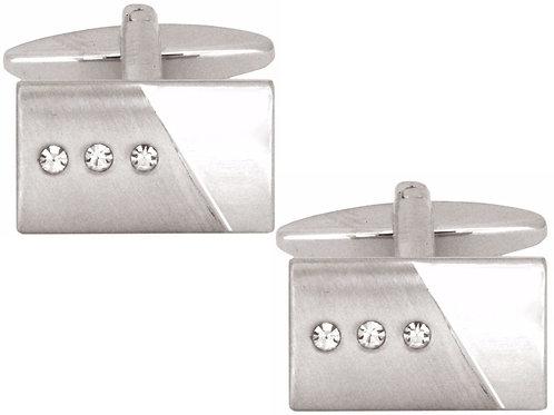 Rectangle Crystal Cufflinks