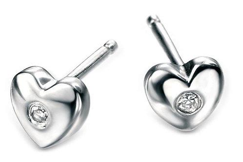 Silver Heart Earrings