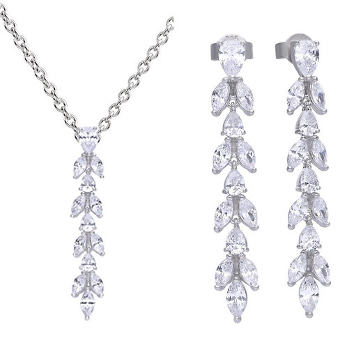 Drop Claw Collier Necklace and Earrings Set