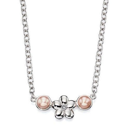 Rose Pearl Daisy Necklace