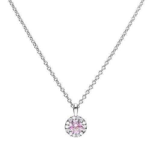 Dazzling Dusky Pink Pave Necklace
