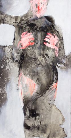 "Kelsey Birsa, Grab, 2017, 48""h x 24""w, o"