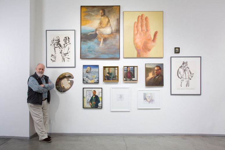 Paul Missal with works at Blackfish