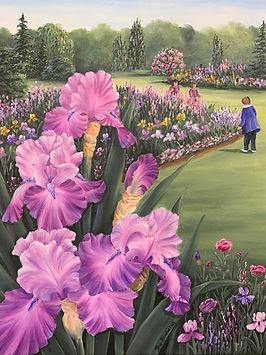 Bev Birdwell, In the Iris Garden, 22x26,