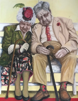 Couple on a bench