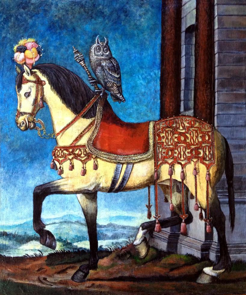 Portrait of Francois I on Horseback (after Francois Clouet)