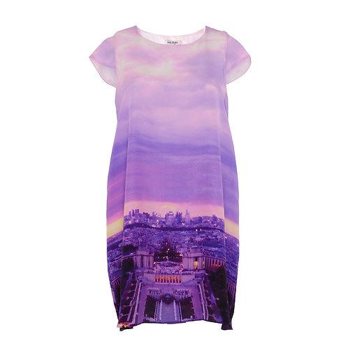 Lulu Hayes Paris Cityscape Shift Dress