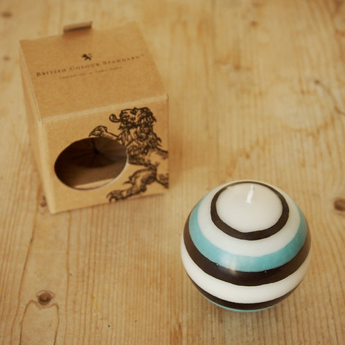 Striped Small Ball Candle by British Colour Standard