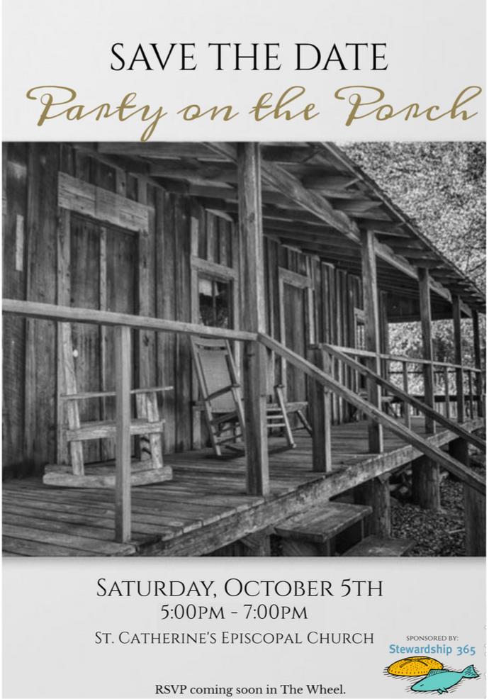 Party On The Porch Save the Date