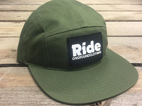 Ride Rubber Mount Jockey Snap Strap Cap (Olive)