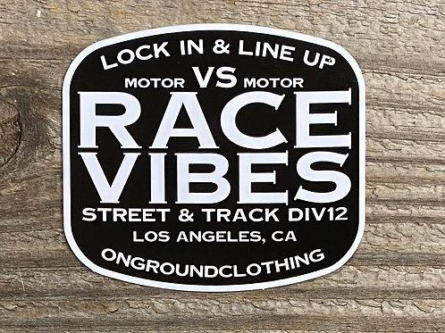 Race Vibes Tool Box Sticker