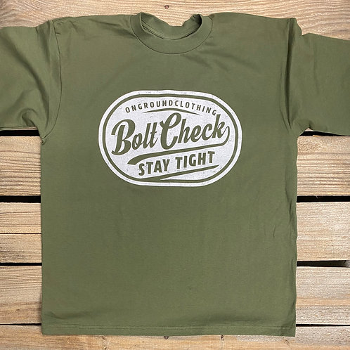 Bolt Check Tee (Olive)