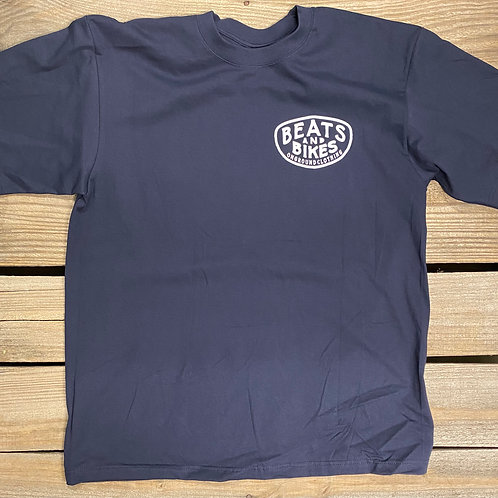Beats And Bikes Shop Tee (Navy Blue)