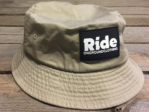 Ride Logo Rubber Mount Bucket Hat (Khaki)