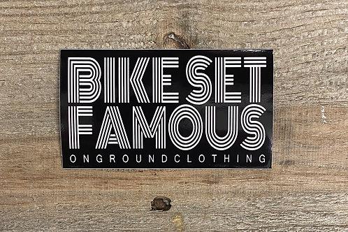 Bike Set Famous Tool Box Sticker