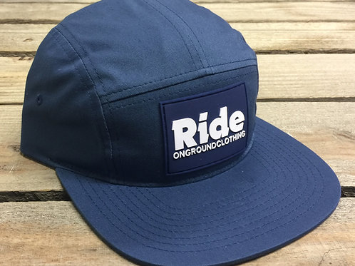 Ride Rubber Mount Jockey Snap Strap Cap (Navy)