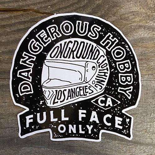 Dangerous Hobby Tool Box Sticker