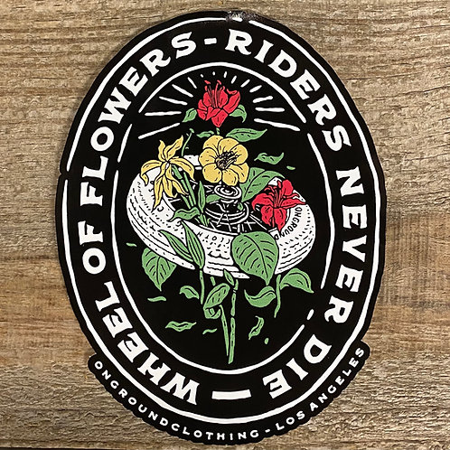 Wheel Of Flowers Tool Box Sticker