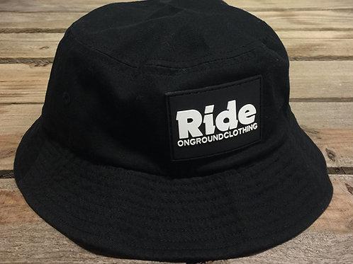 Ride Logo Rubber Mount Bucket Hat (Black)