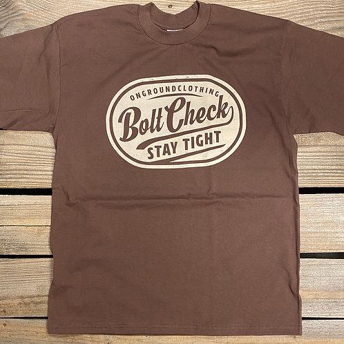 Bolt Check Tee (Brown/Cream)