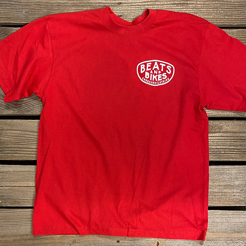 Beats And Bikes Shop Tee (Red)