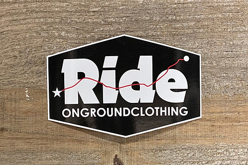 Ride Logo Tool Box Sticker