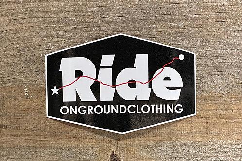 Ride Logo Tool Box Sticker