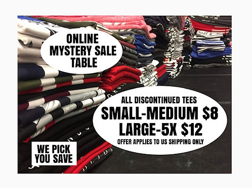 Mystery Sale Table (Discontinued Tees)