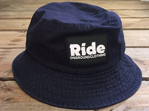 Ride Logo Rubber Mount Bucket Hat (Navy Blue)