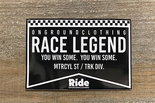 Race Legend Tool Box Sticker