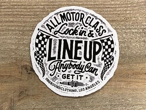 Line Up Tool Box Sticker