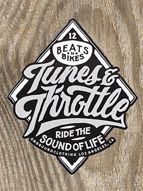 Tunes & Throttle Tool Box Sticker (Grey)
