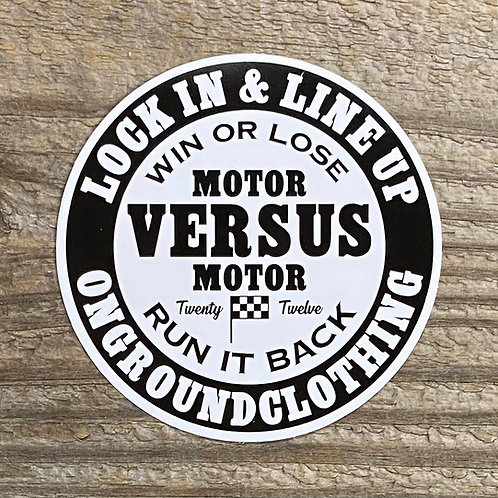 Motor Versus Motor Tool Box Sticker