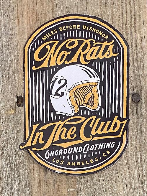 No Rats Tool Box Sticker