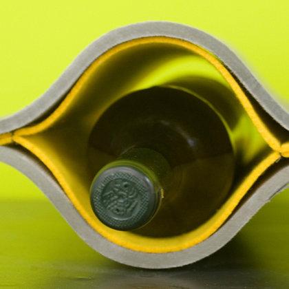 Filzeinsatz gelb für Weinregal Iva