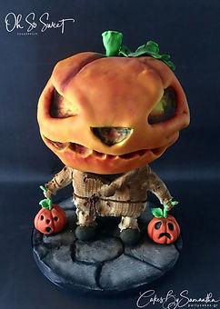 Mr Pumpkin Head Collector Halloween Cake Τουρτα κολοκύθα
