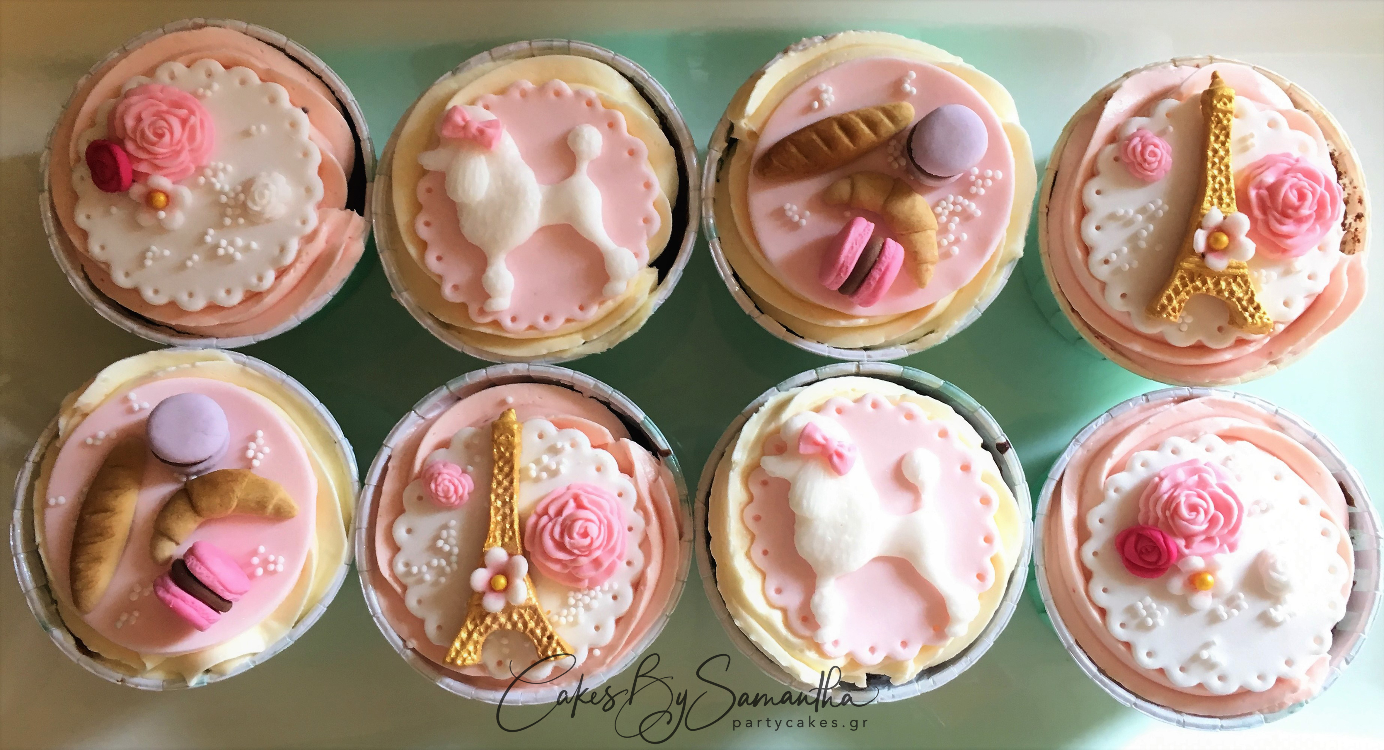French Themed Cupcakes smaller