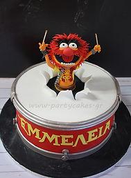 Τούρτα με ζαχαρόπαστα Anima Muppets