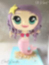 3D Chibi mermaid Cake Τουρτα Γοργόνα
