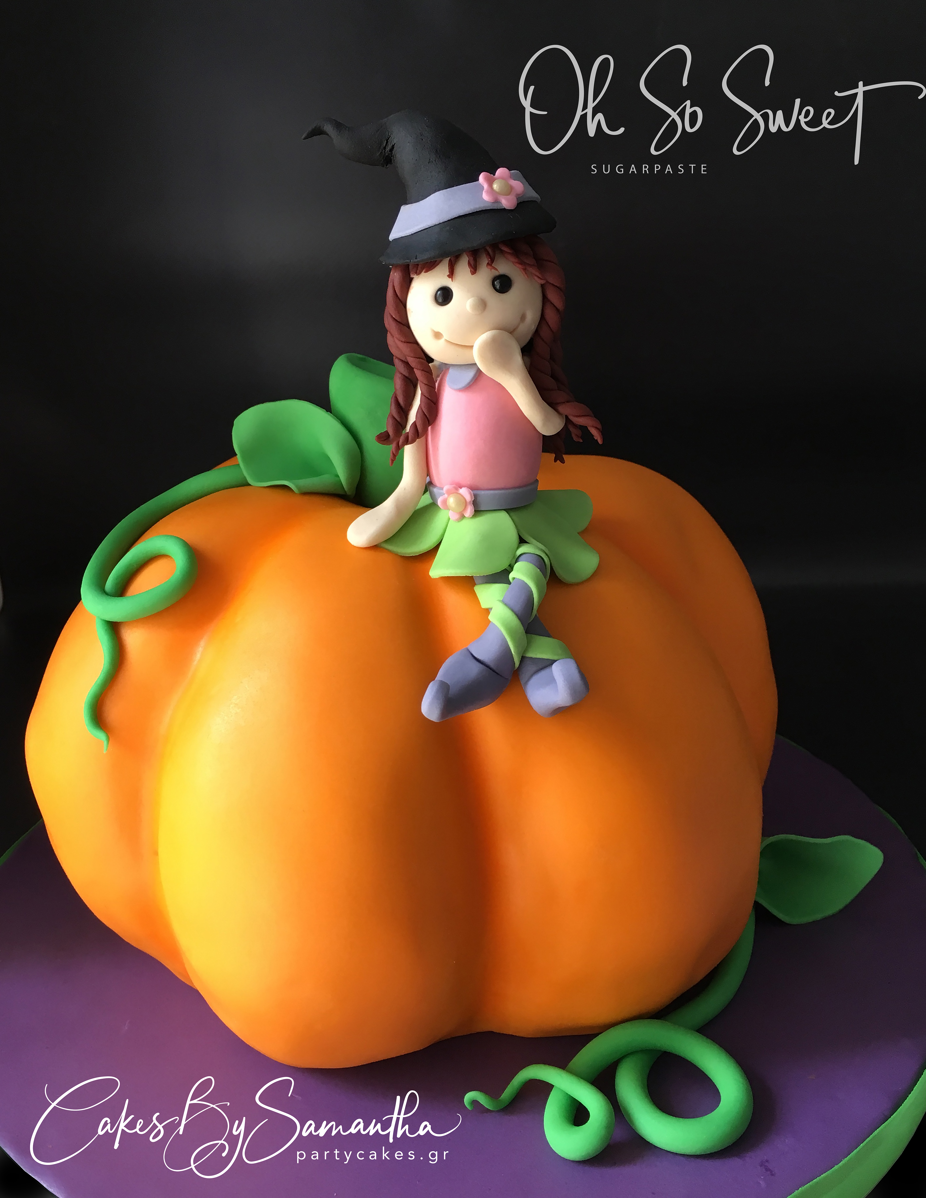 Pumpkin and witch Cake SMALLER