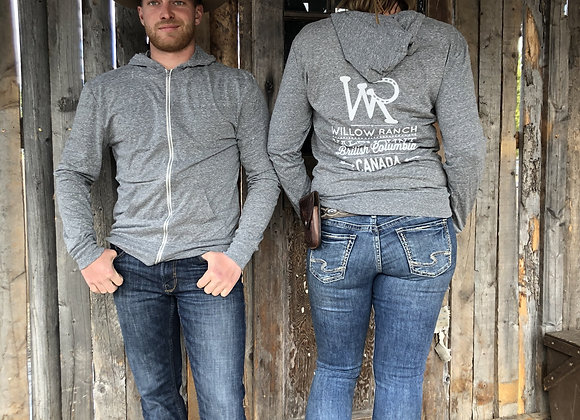 Willow Ranch Zipped Hoodie grey